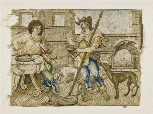 "DONATION TO THE MUSÉE NATIONAL DE LA RENAISSANCE - ECOUEN - FRANCE - Esau selling his birthright to Jacob or ""The Lentil Stew"""