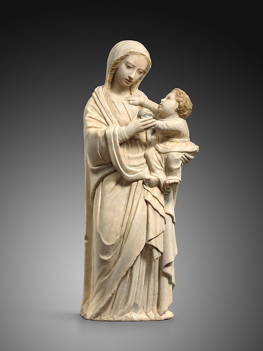 ATTRIBUTED TO DOMENICO GAGINI (1449-1492) - VIRGIN AND CHILD