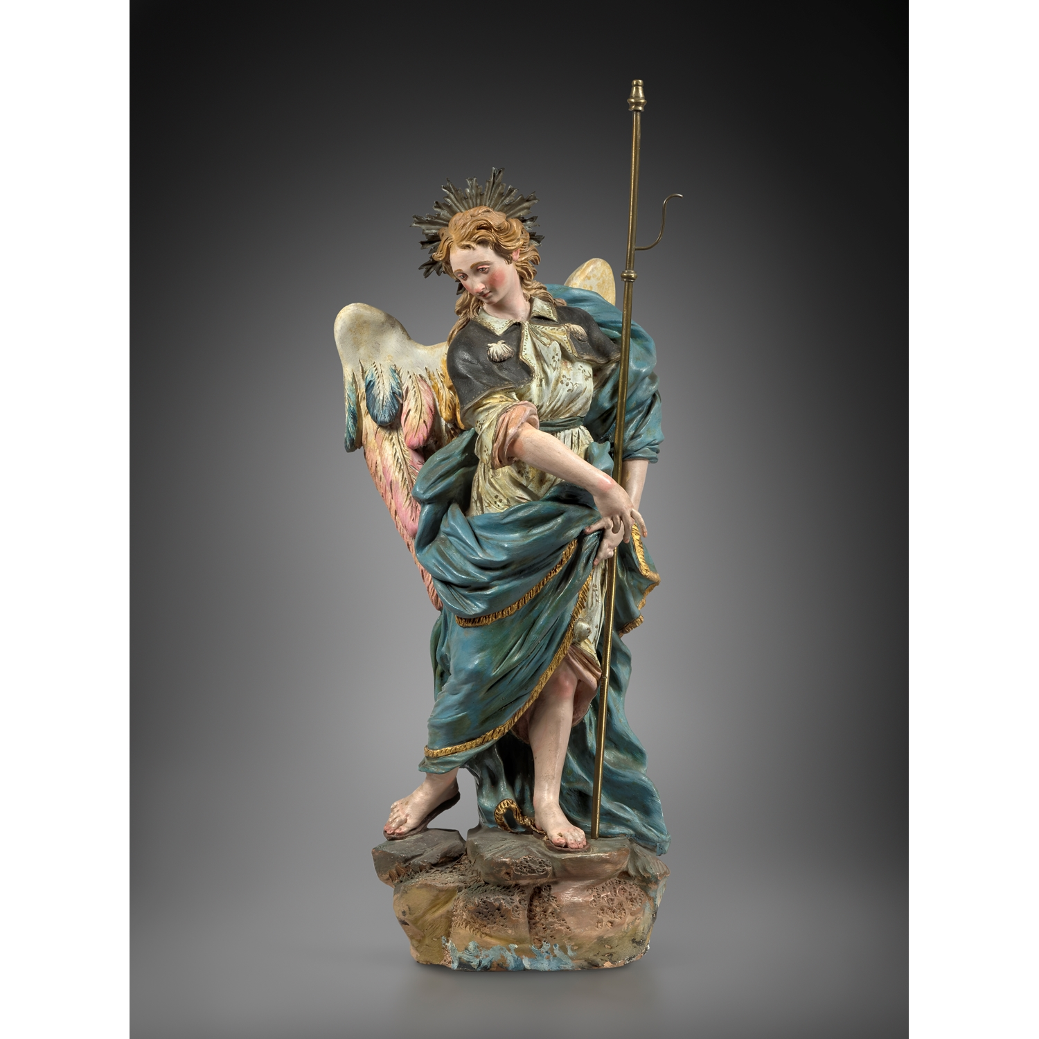 ATTRIBUTED TO  GIUSEPPE SANMARTINO ( 1720-1793 ) ANGEL NAPLES SECOND HALF OF THE 18TH CENTURY