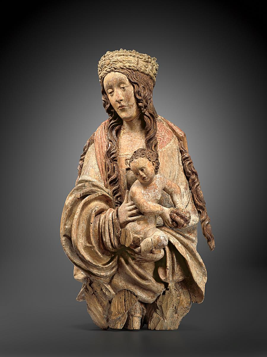 BUST OF A VIRGIN AND CHILD