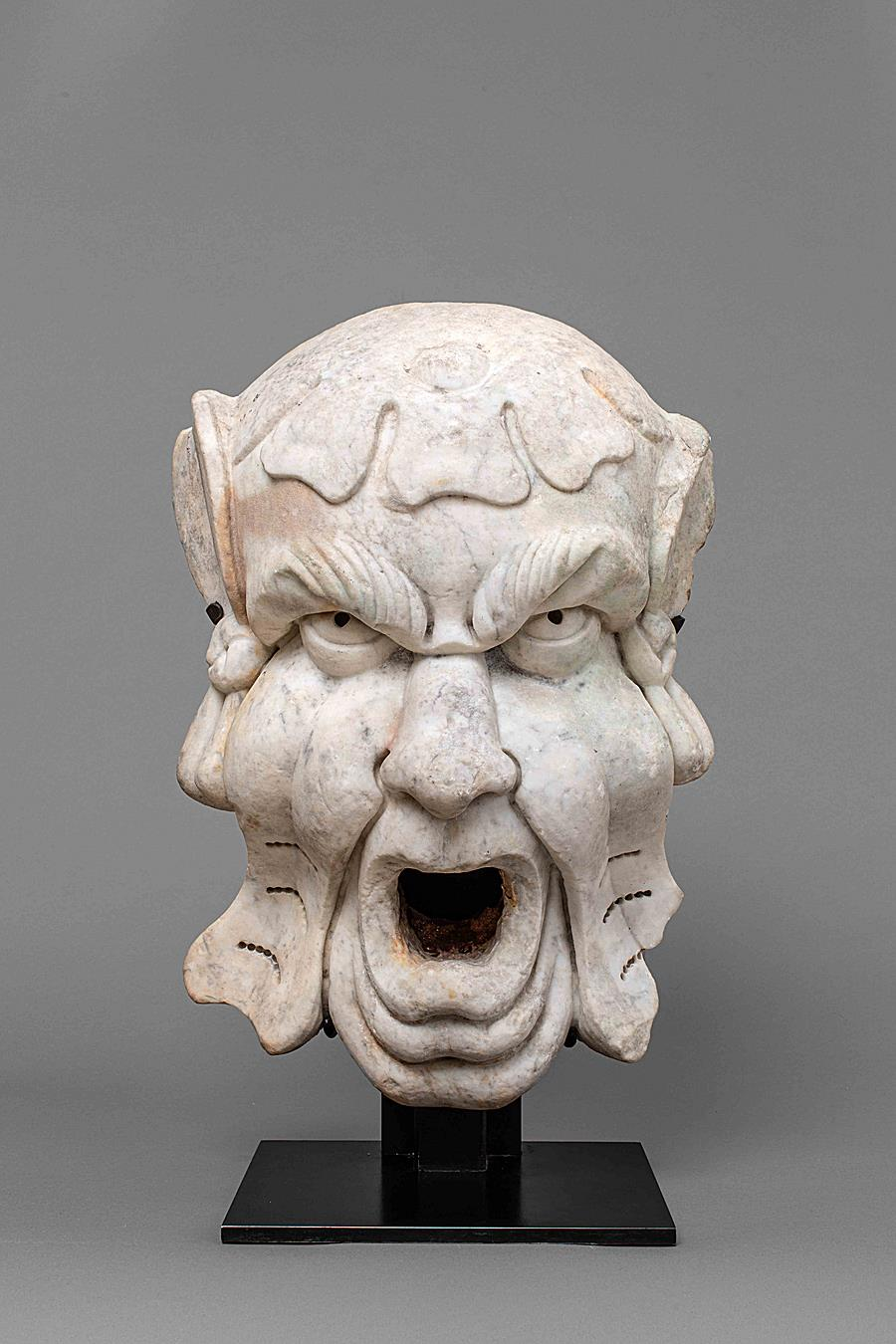 CIRCLE OF BERNARDO BUONTALENTI ( 1531-1608 ) - GROTESQUE MASCARON Florence Second half of the 16th Century