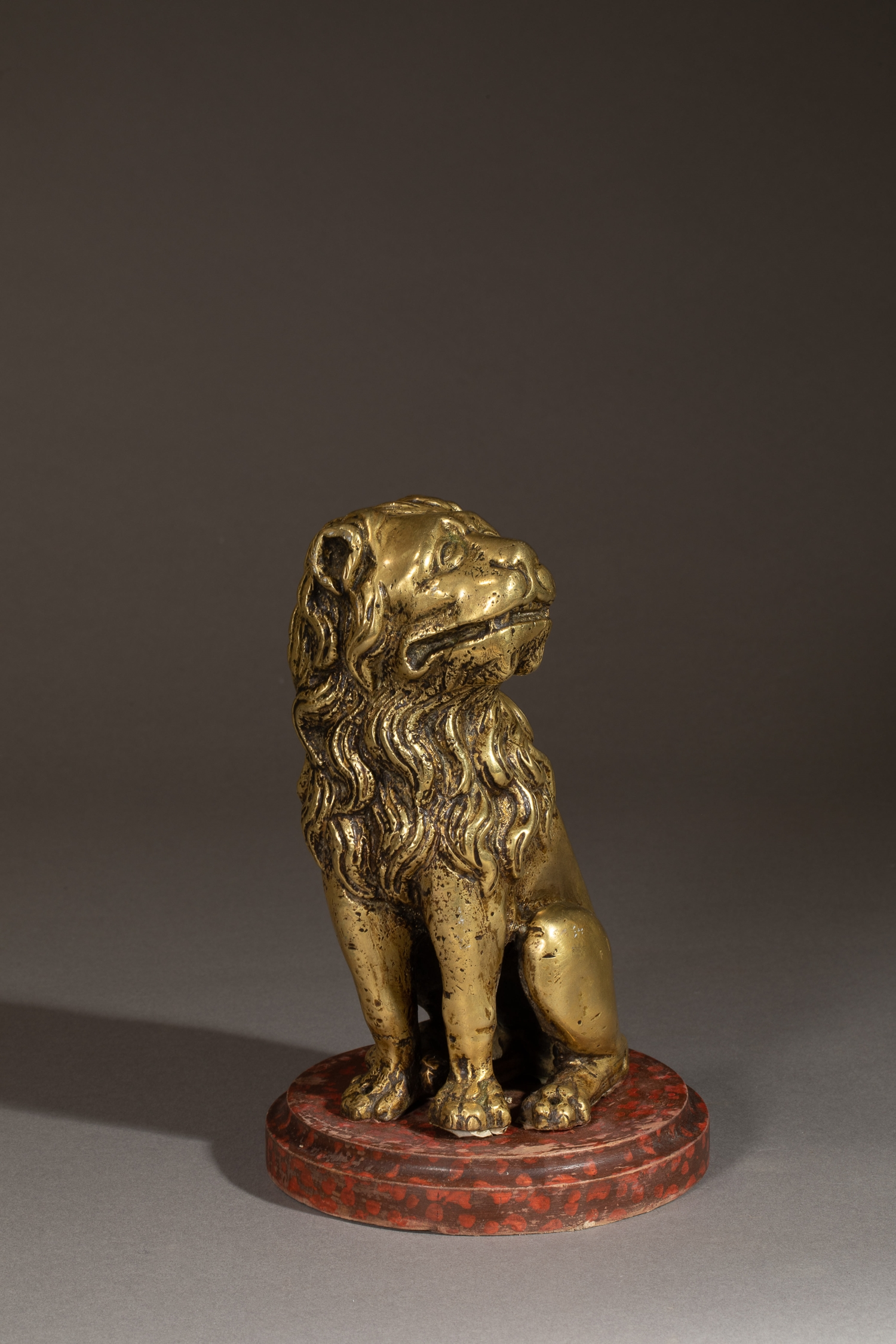 BRASS CAST LION FLANDERS EARLY 16TH  CENTURY - SOLD
