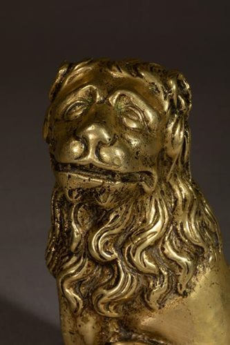 BRASS CAST LION FLANDERS EARLY 16TH  CENTURY