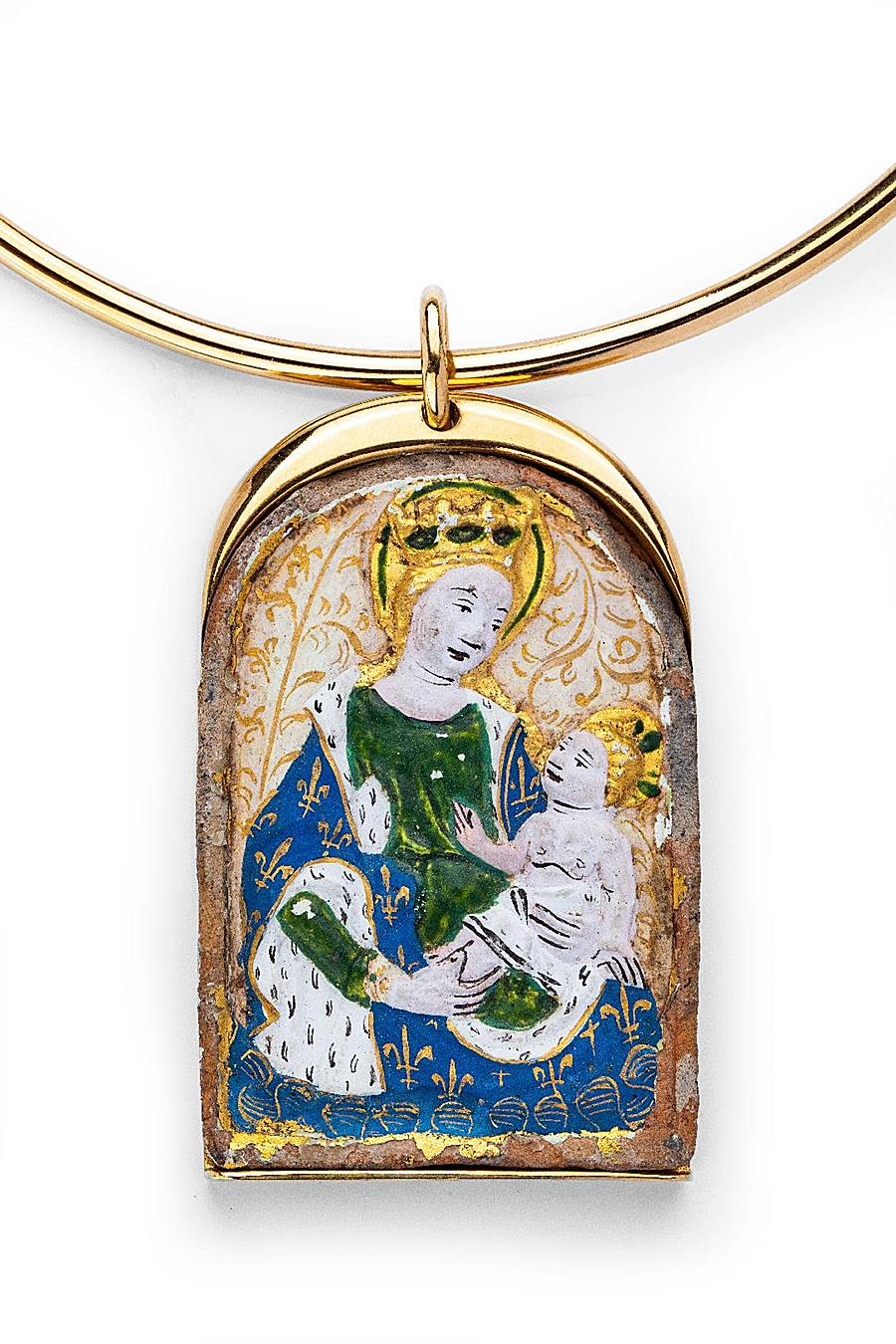 PENDANT WITH A MEDIEVAL MINIATURE
