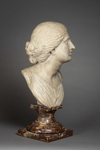 ALL'ANTICA BUST OF A WOMAN ROME SECOND HALF HALF OF THE 17TH CENTURY
