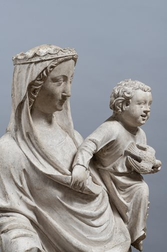 IMPORTANT VIRGIN AND CHILD SEINE-ET-MARNE 14th CENTURY