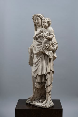 IMPORTANT MEDIEVAL VIRGIN AND CHILD FROM SEINE-ET-MARNE