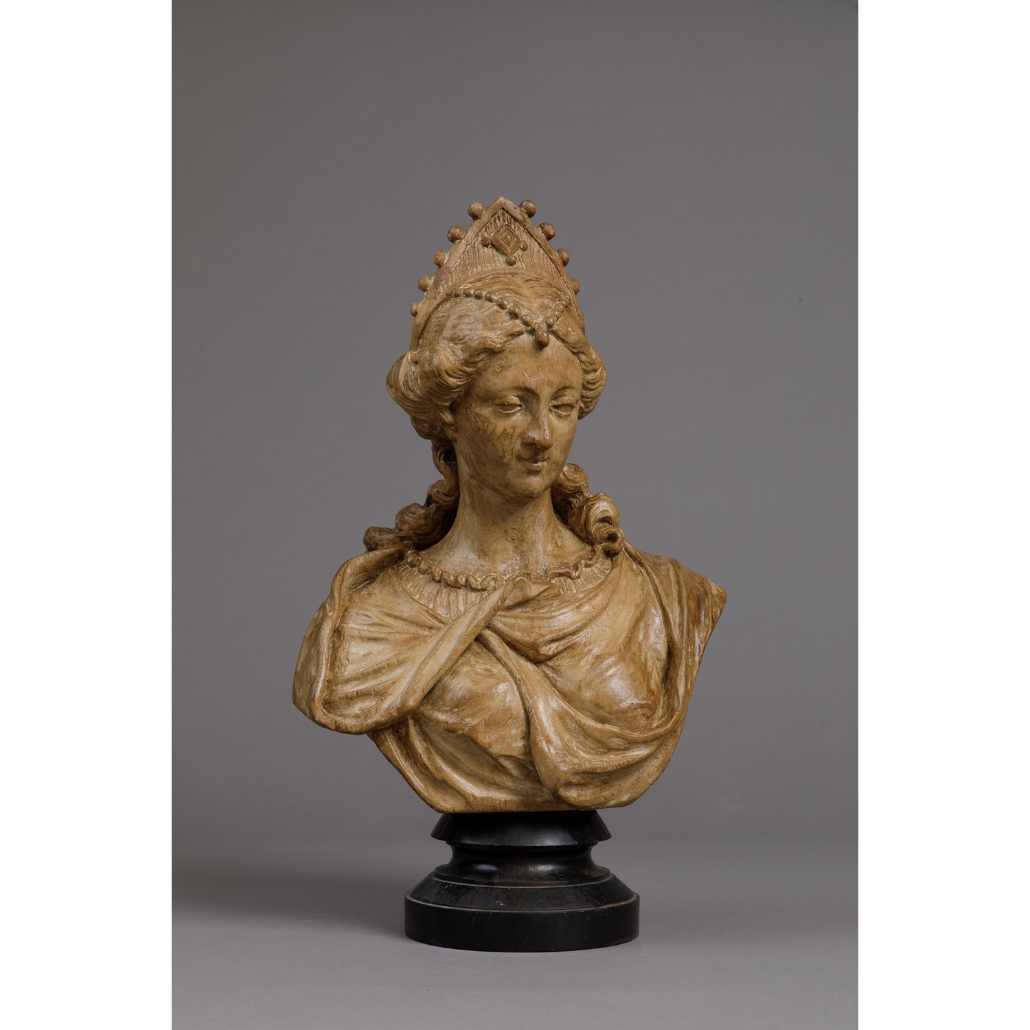 FLEMISH BAROQUE BUST OF A JEWELED LADY - SOLD