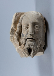 HEAD OF A MAN REIMS 14th CENTURY