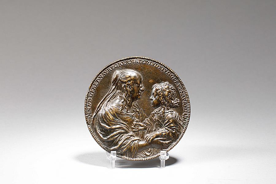 "BRONZE MEDAL WITH LOUIS XIV AND ANNE OF AUSTRIA  KNOWN AS "" LE VAL-DE-GRÂCE"""