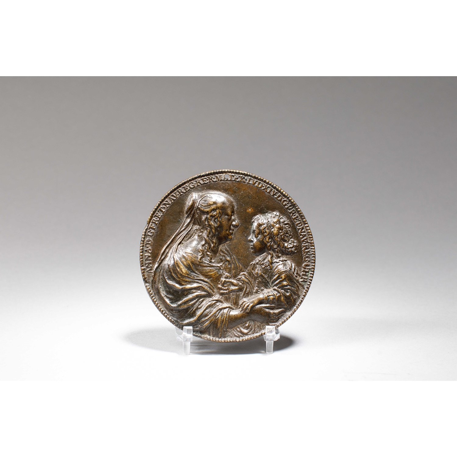 """BRONZE MEDAL WITH LOUIS XIV AND ANNE OF AUSTRIA  KNOWN AS """" LE VAL-DE-GRÂCE"""" - SOLD"""