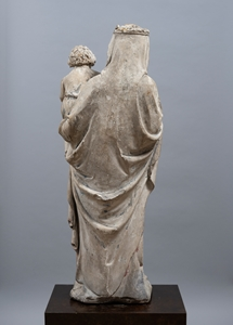 IMPORTANT VIRGIN AND CHILD SEINE-ET-MARNE 14th CENTURY - SOLD