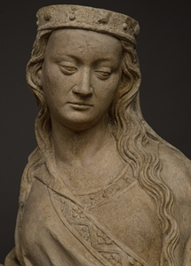 IMPORTANT SAINT BARBARA FROM THE DUCHY OF LORRAINE CIRCA 1420-1430