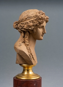 JOSEPH-CHARLES MARIN (1759-1834) - BUST OF A BACCHANTE - SOLD