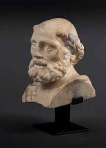 BUST OF SAINT PETER WITH HIS KEY Northern Italy End of the 15th Century