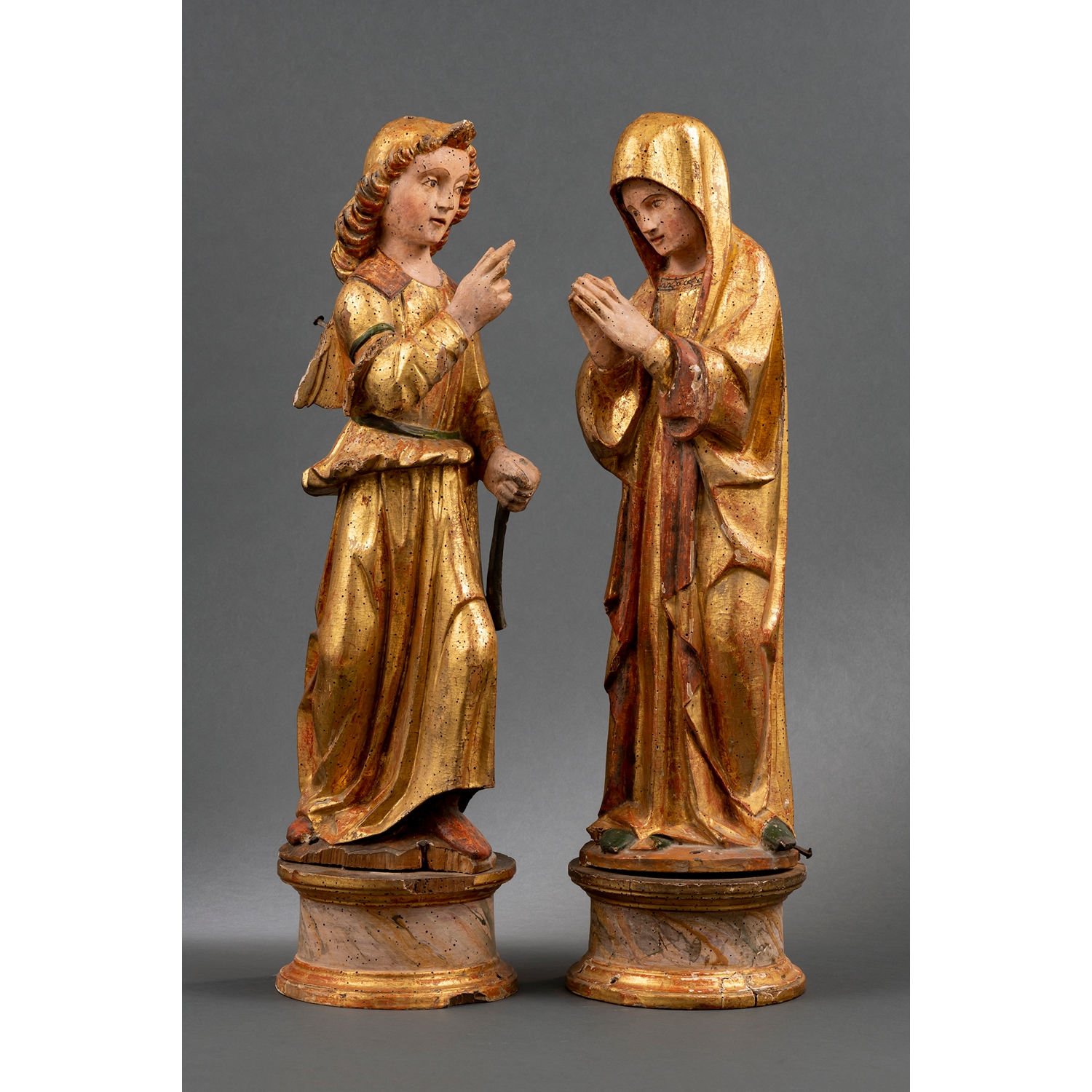 Circle of Giovanni Pietro and Giovanni Ambrogio Donati (documented between 1478-1528 and 1484-1514)  Annunciation Group