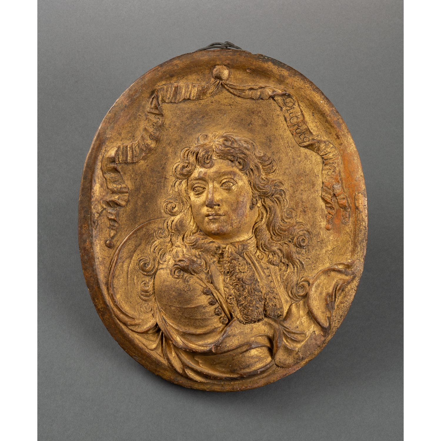ROUNDEL WITH PORTRAIT OF MONSEIGNEUR JACQUES DUCROCQ DATED 1689