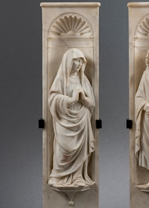 Entourage of Girolamo Viscardi (doc. 1467- before 1522) ? Two pilasters with figures of the Virgin and Saint John