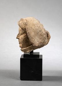 HEAD OF A MAN IN A TURBAN ÎLE-DE-FRANCE CIRCA 1400
