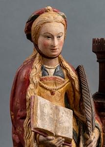 SAINT BARBARA LIMESTONE CHAMPAGNE FIRST QUARTER OF THE 16TH CENTURY