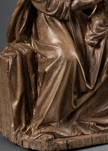 CIRCLE OF THE MASTER OF THE VIRGIN OF ROUVROY ENTHRONED VIRGIN AND CHILD CHAMPAGNE CIRCA 1520-1530