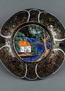 Cup with handles : The Baptism of Christ Painted Enamel  Second half of the 17th century - SOLD