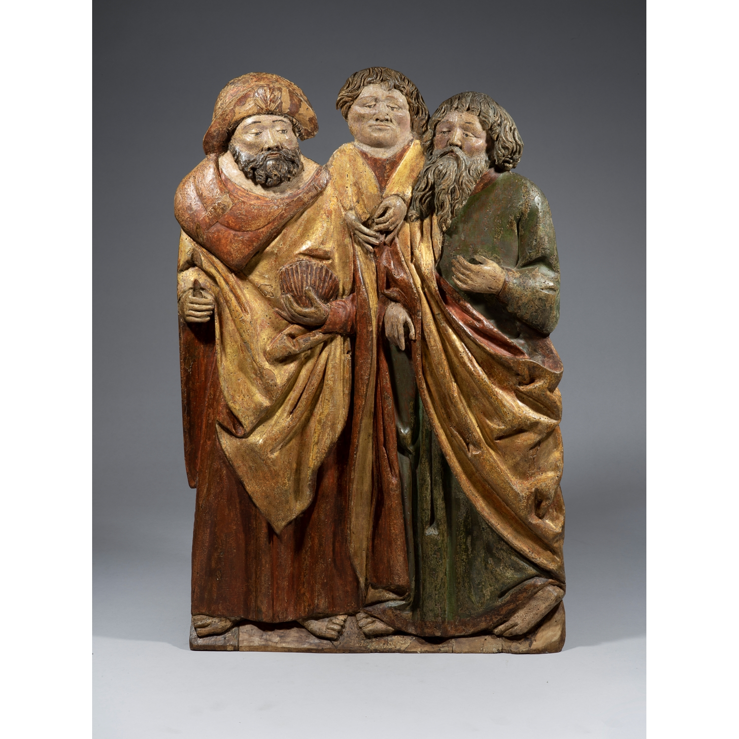 ANONYMOUS MASTER FROM SOUTH SWABIA  PAIR OF ALTAR PANNELS WITH SIX APOSTLES
