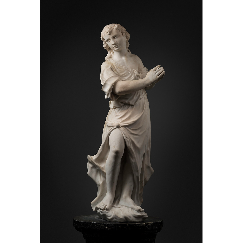 GAETANO SUSALI (1724 - 1779)   PRAYING  ANGEL VENICE MID-18TH CENTURY