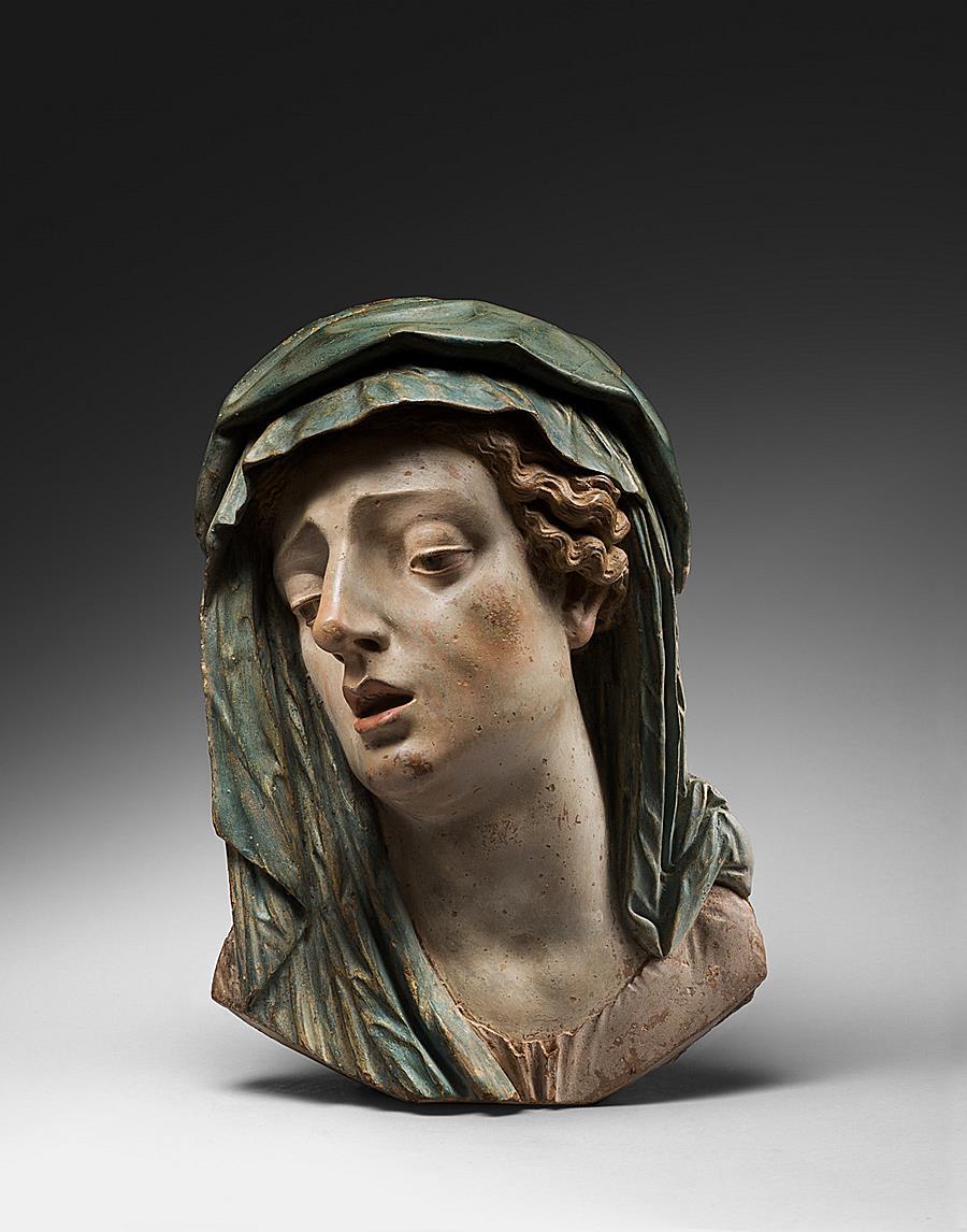 ATTRIBUTED TO ANNA MORANDI MANZOLINI ( 1714-1774 )  MADONNA ADDOLORATA  BOLOGNA 1750-1770